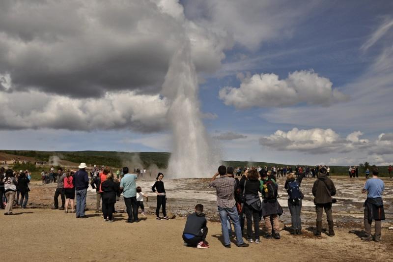 Symbolem Islandu jsou gejzíry- aktivní Strokkur