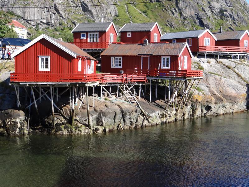 Tradiční rybářské domky Rorbuer