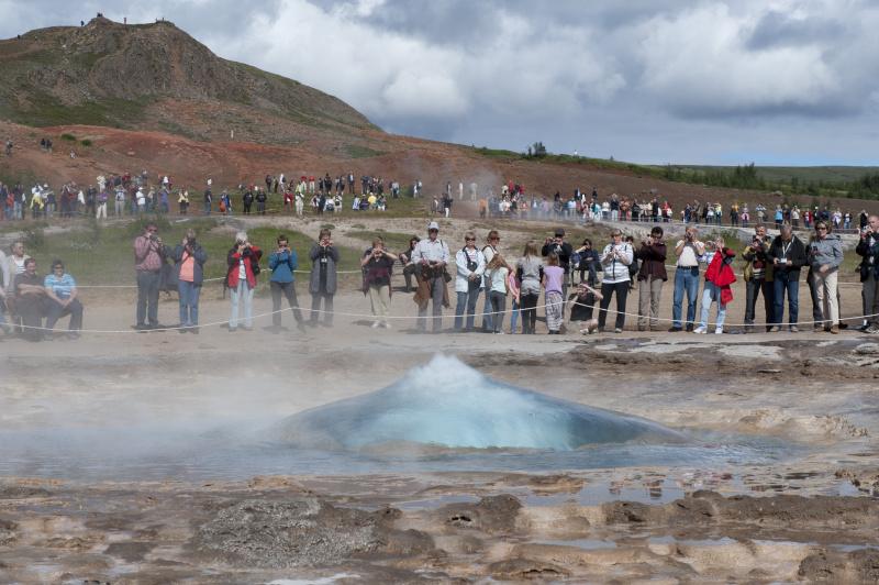 Typickým symbolem Islandu jsou gejzíry