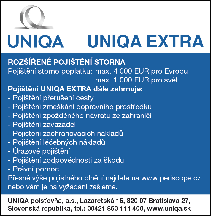 Redakce - Infoscope - zkatalogu / UNIQA EXTRA