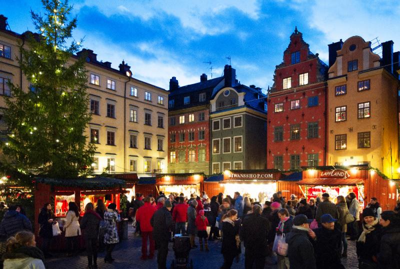 Vánoční trh ve Stockholmu