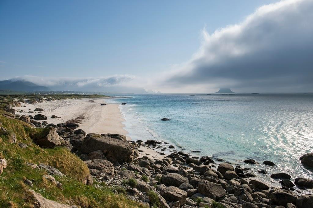 Velká písečná pláž v Bleik