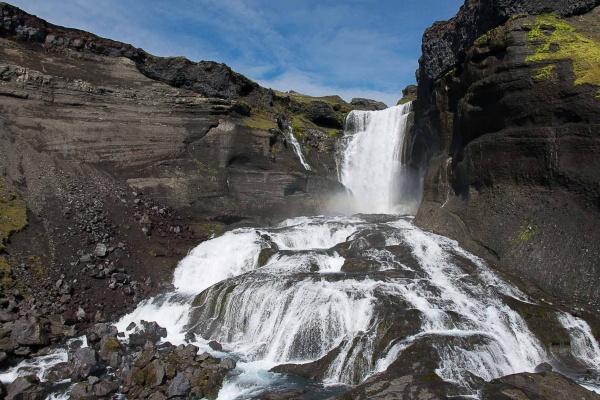 Vodopád Óf230;rufoss na Islandu