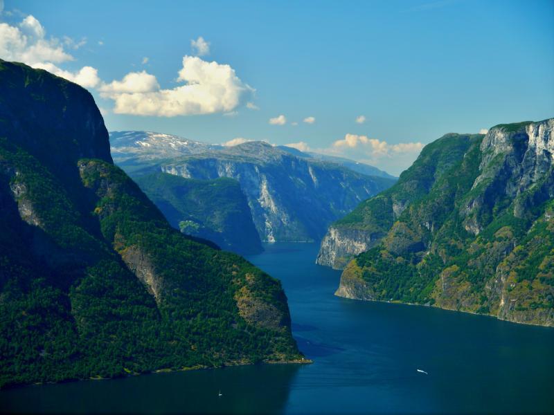 Vyhlídka na Aurlandfjord
