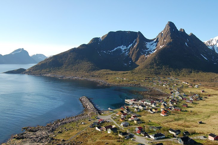 Senja, vesnice Mefjordvaer