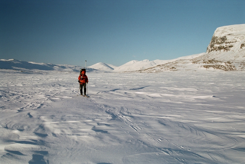 Zimní treking po Kungsleden